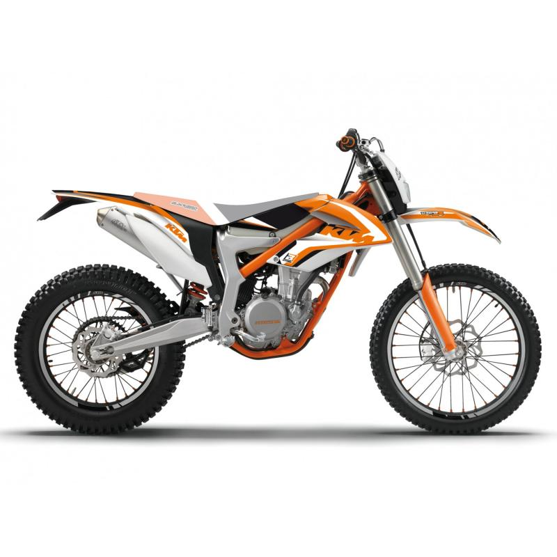 Kit déco Blackbird Racing Dream 4 KTM 350 Freeride 12-17 orange/noir/blanc