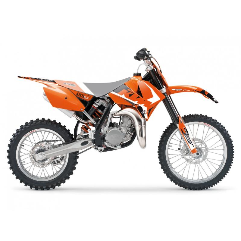 Kit déco Blackbird Racing Dream 4 KTM 85 SX 06-12 orange/noir/blanc