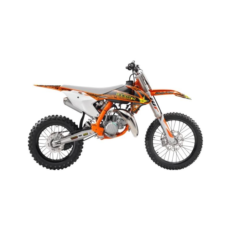 Kit déco Blackbird Rockstar Energy KTM 85 SX 18-20 orange/noir