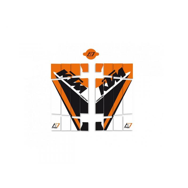 Kit déco de cache radiateur Blackbird KTM Trophy 19 KTM 125 19-20 orange/noir