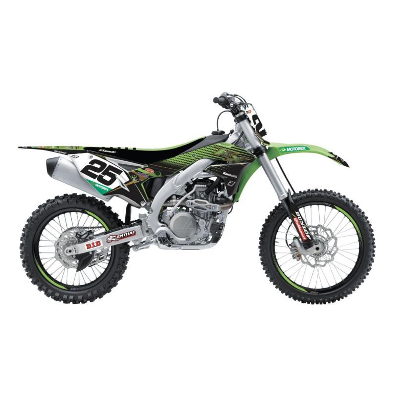 Kit déco + housse de selle Blackbird Replica Racing Team 2019 Kawasaki 450 KX-F 16-18 vert/noir