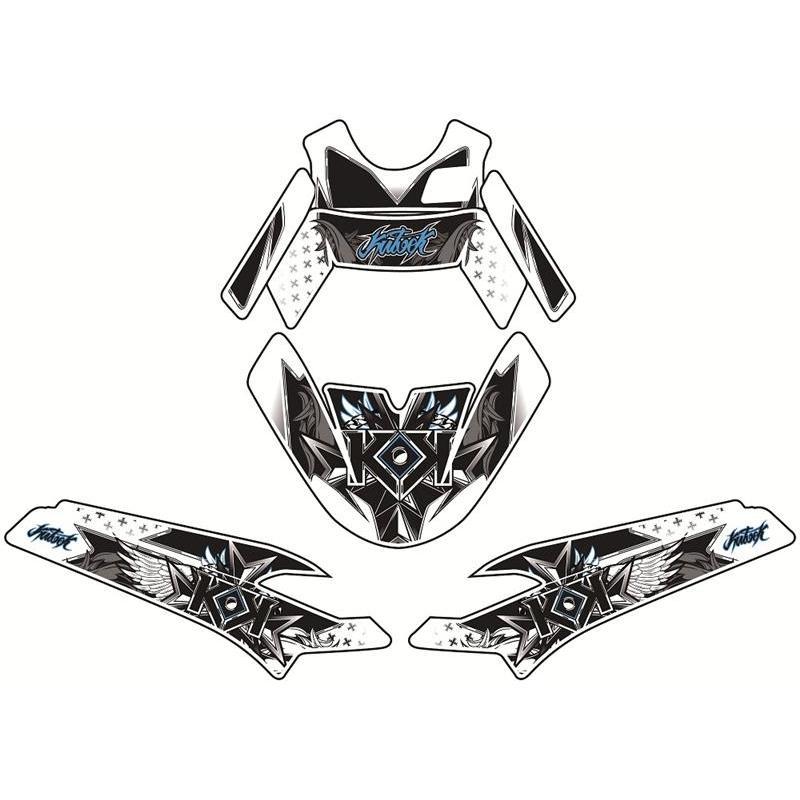 Kit deco KUTVEK Yasuni Factory rouge//noir MBK Nitro//Yamaha Aerox 50