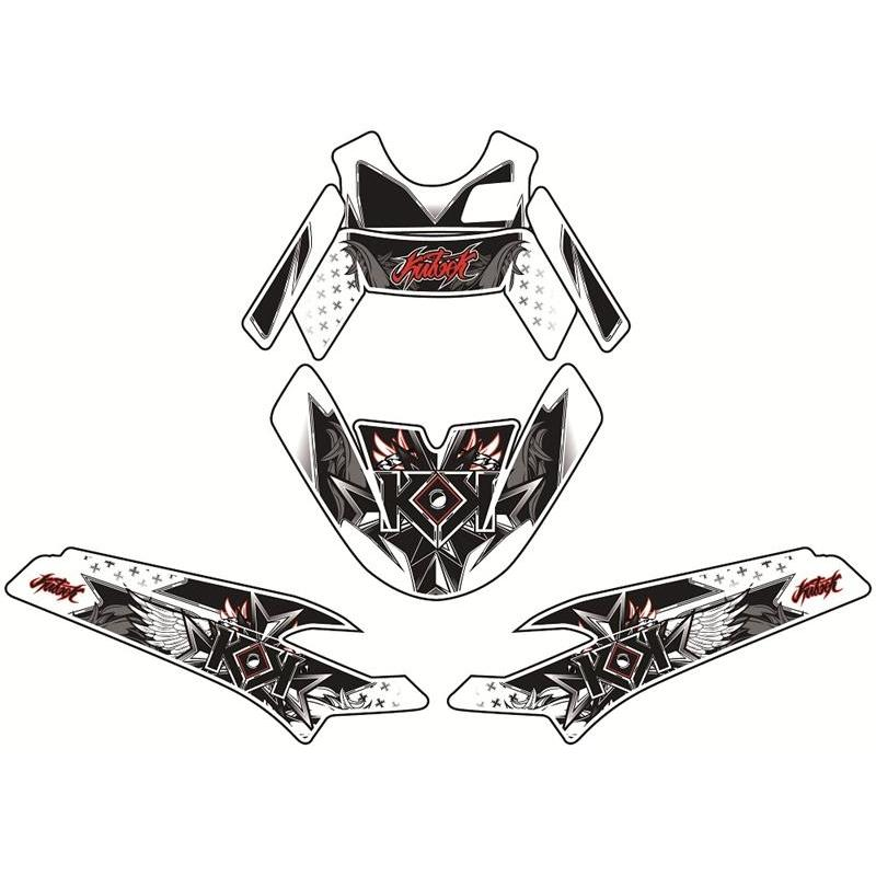 Kit déco Kutvek Demon rouge MBK Booster