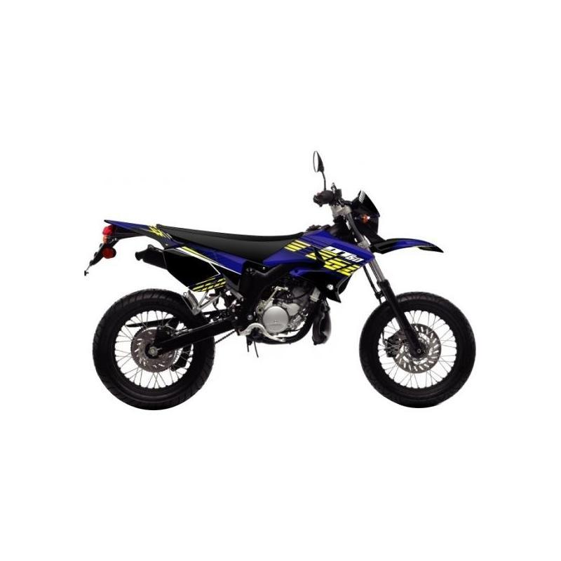 Kit déco Kutvek Flow MBK Xlimit / Yamaha DT 07-11 bleu / jaune