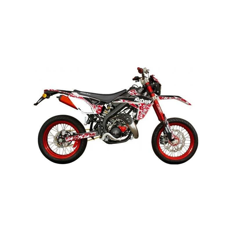 Kit déco Kutvek Predator Rieju MRT 10- rouge / blanc