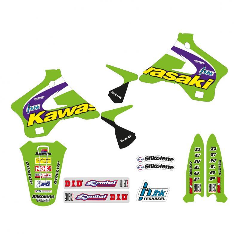 Kit déco Réplica Team Kawasaki 98 Tecnosel Kawasaki 125 KX 94-98