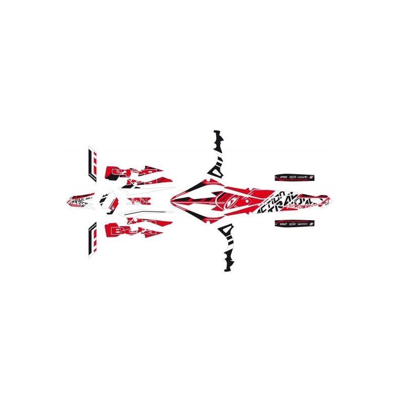 Kit déco Traction Blackbird Beta 300 EVO 2T 15-17 rouge/noir