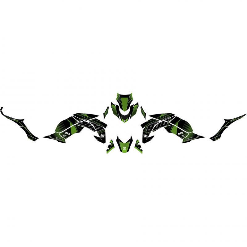 Kit déco Up Maximize noir / vert Kawasaki Z900 2017