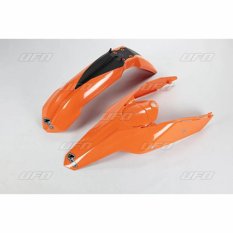 Kit garde-boue avant et arrière UFO KTM 250 SX-F 07-10 orange (couleur origine)