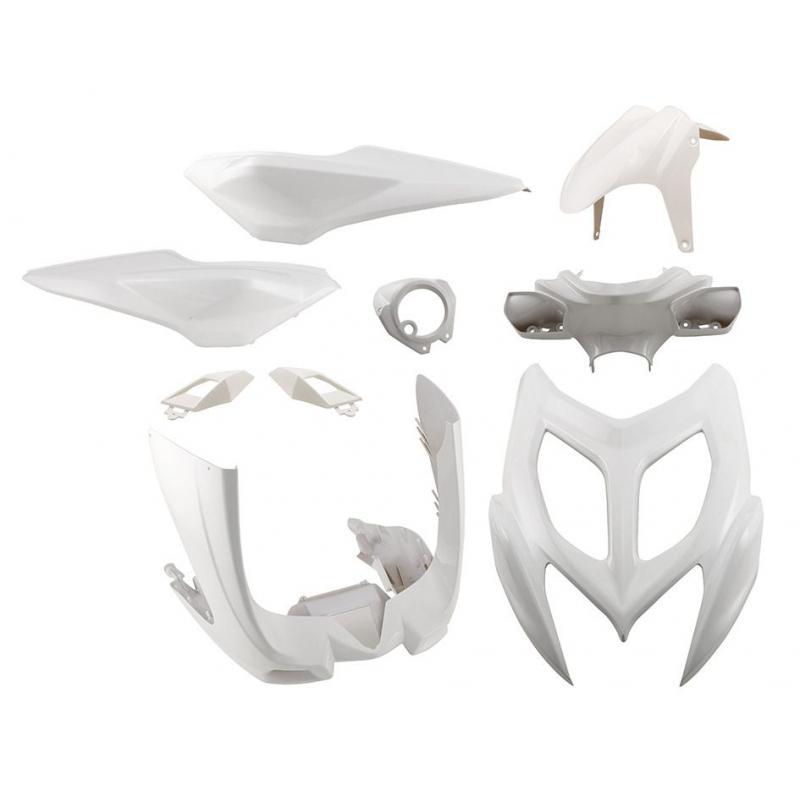 Kit habillage 1Tek Tuning blanc 9 pièces Aerox 50 2013>