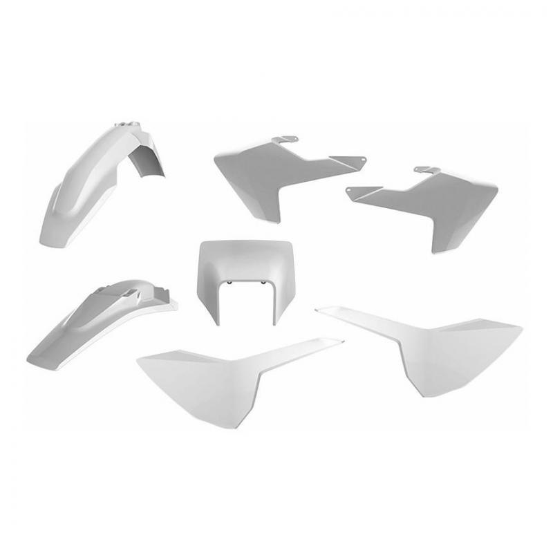 Kit plastique Polisport Enduro Husqvarna 250 FE 17-19 blanc (couleur origine)