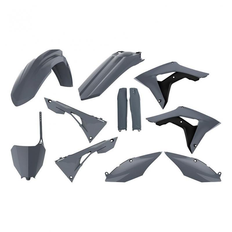 Kit plastique Polisport Honda CRF 450R 17-18 gris nardo