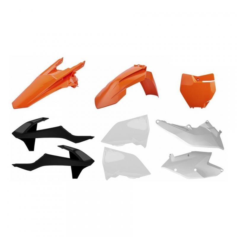 Kit plastique Polisport KTM 250 EXC-F orange/blanc/noir (couleur origine)