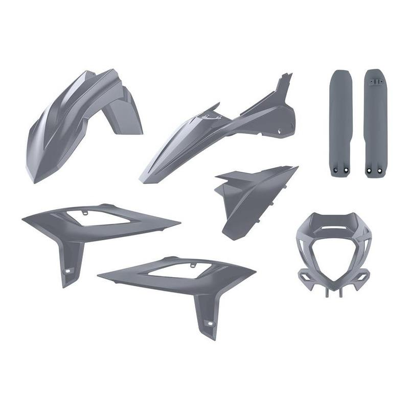 Kit plastique Polisport Replica Beta RR 125 2T 20-21 gris nardo