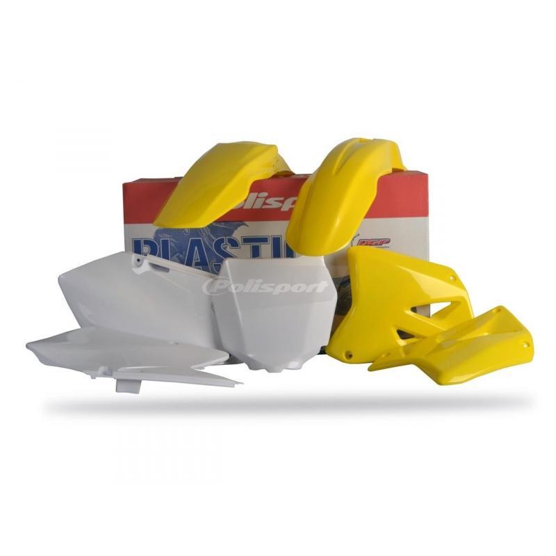 Kit plastique Polisport Suzuki 250 RM 01-08 (jaune-blanc origine)