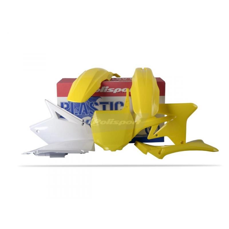 Kit plastique Polisport Suzuki 250 RM-Z 07-08 (blanc/jaune origine07-08)