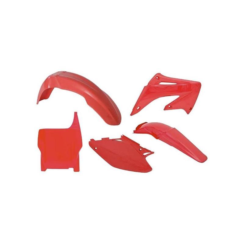 Kit plastique RTech Honda CR 125R 04-07 rouge (rouge CR)