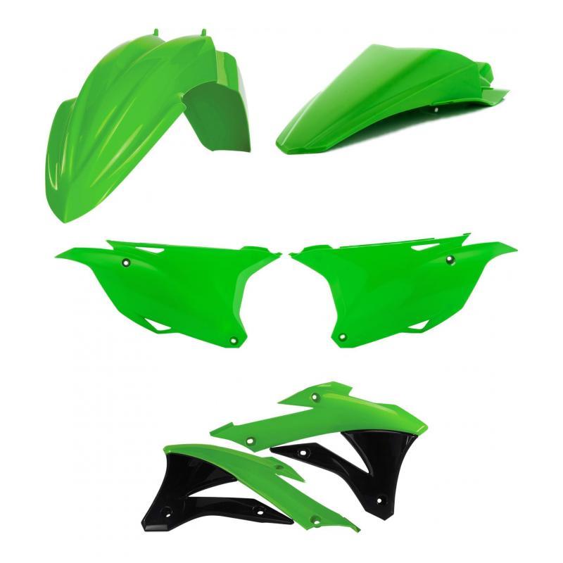 Kit plastiques Acerbis Kawasaki 85 KX 14-21 vert/noir (couleur origine 2020)