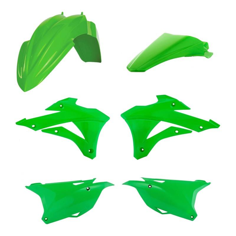 Kit plastiques Acerbis Kawasaki 85 KX 14-21 vert/blanc/noir (couleur origine)