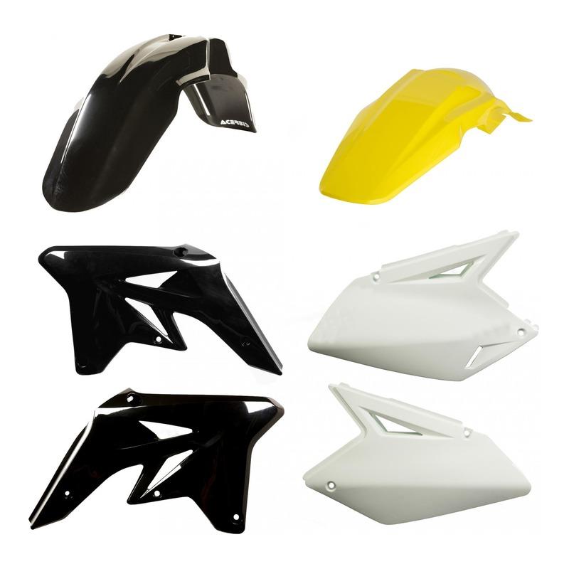 Kit plastiques Acerbis Suzuki 250 RM-Z 07-09 noir/jaune/blanc