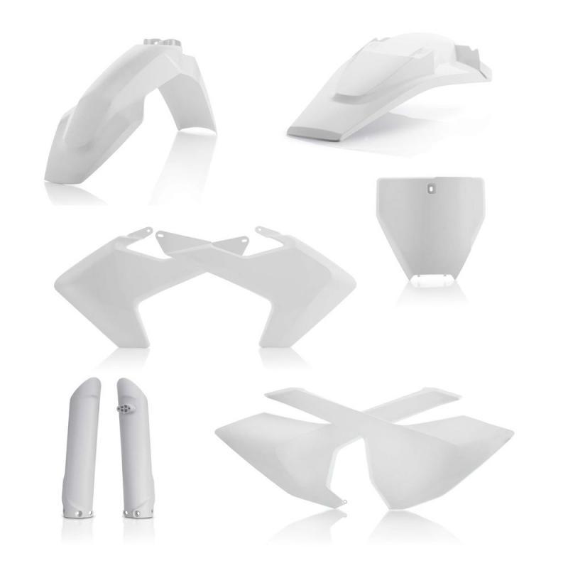 Kit plastiques complet Acerbis Husqvarna 125 TC 16-18 blanc