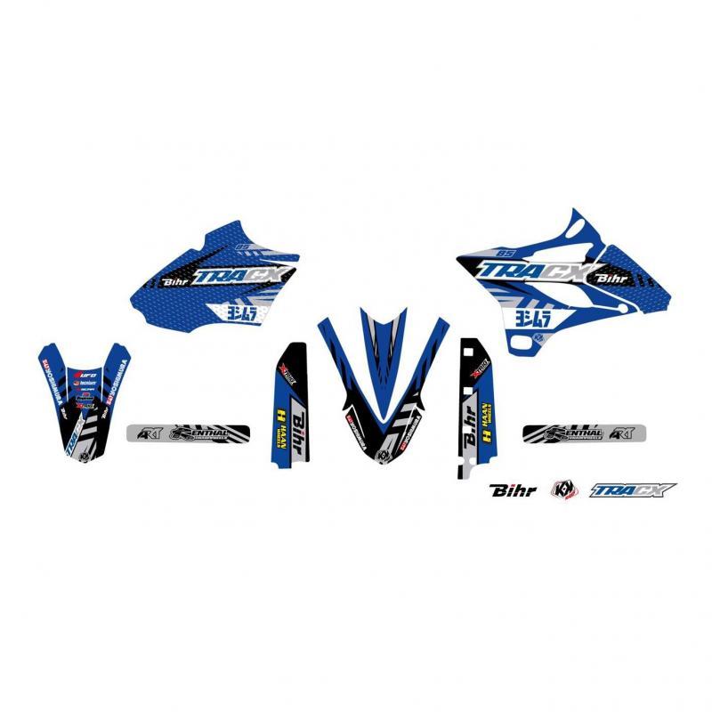 Kit plastiques UFO et kit déco Kutvek Yamaha 85 YZ 15-21 bleu/noir/gris