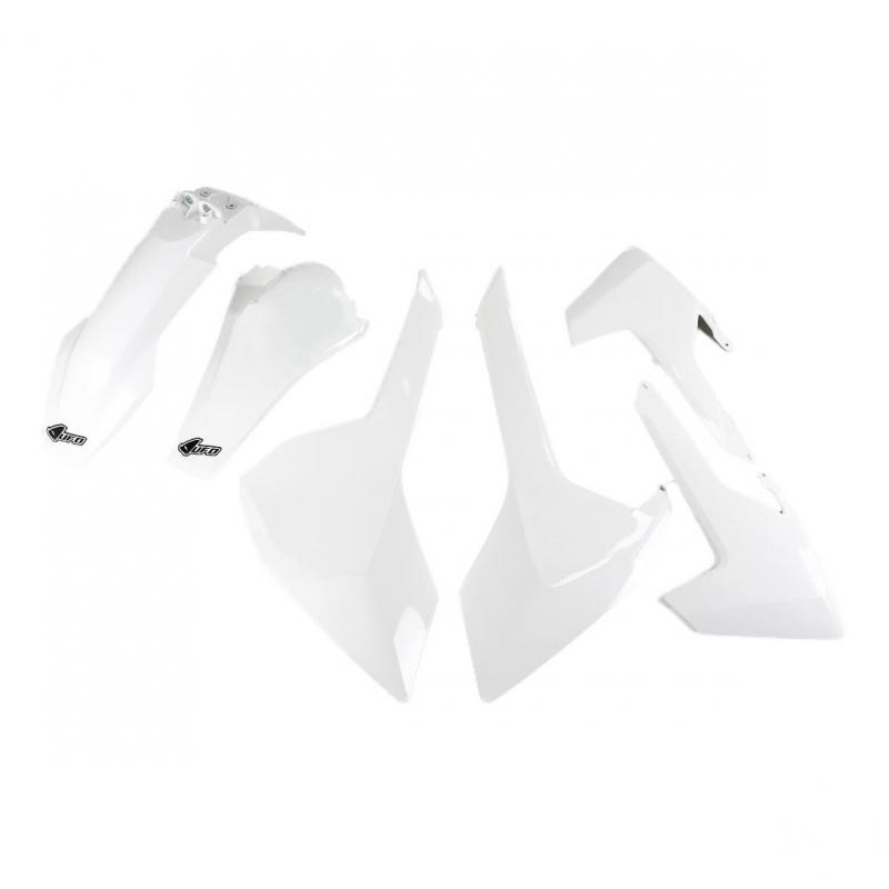Kit plastiques UFO Husqvarna 250 TE 17-19 blanc