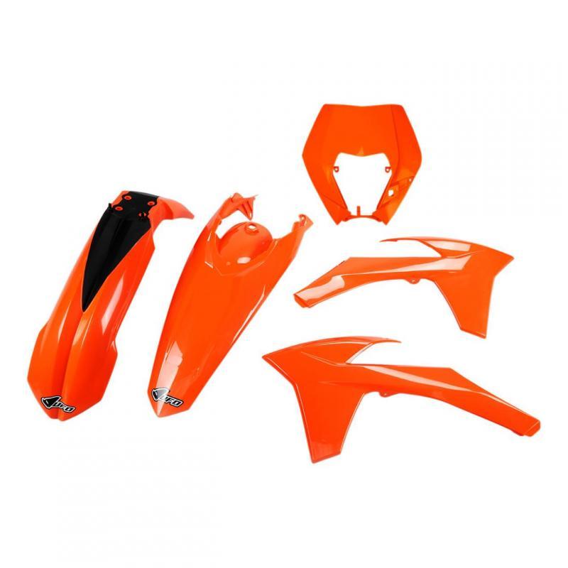 Kit plastiques UFO KTM 250 EXC 12-13 orange (orange KTM 98-19)