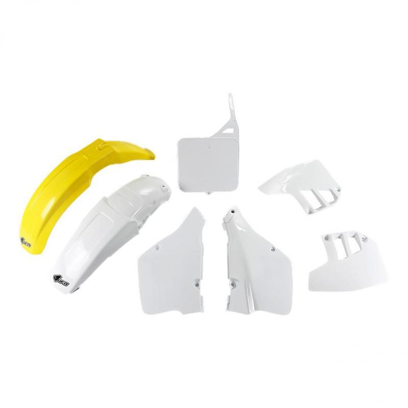 Kit plastiques UFO Suzuki 250 RM 1992 jaune/blanc (couleur OEM)