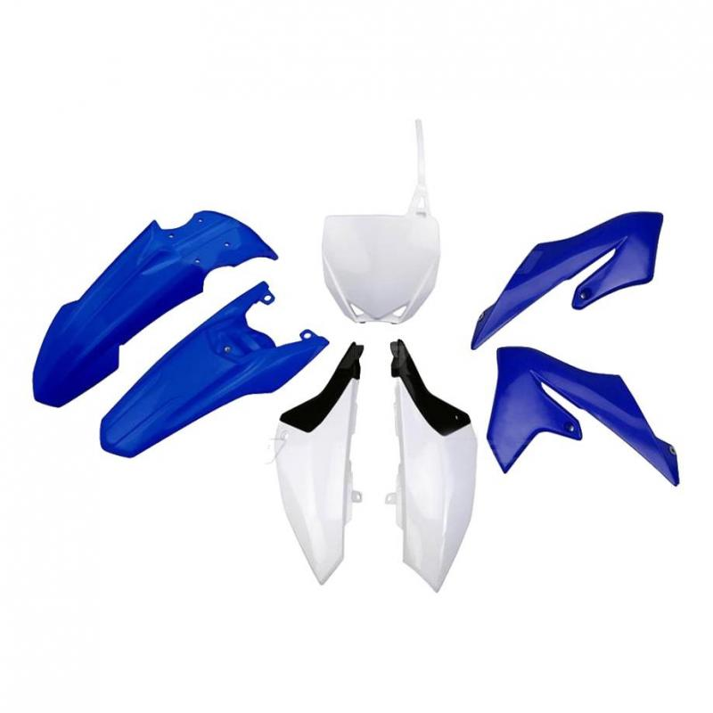 Kit plastiques UFO Yamaha 65 YZ 18-21 bleu/blanc (couleur origine)