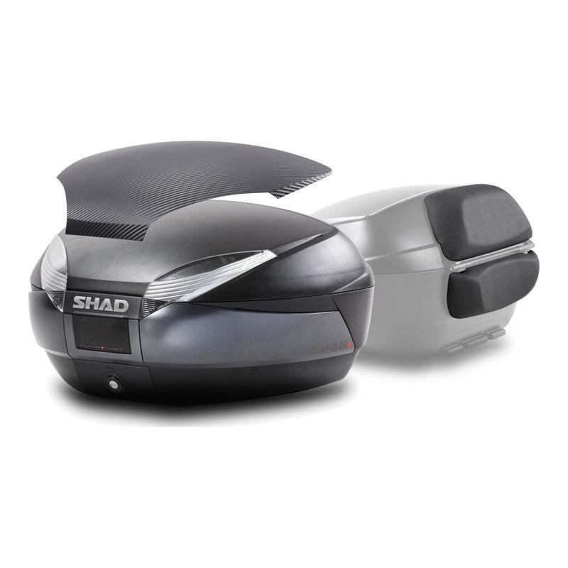Kit top case + dosseret + capot Shad SH48 gris foncé