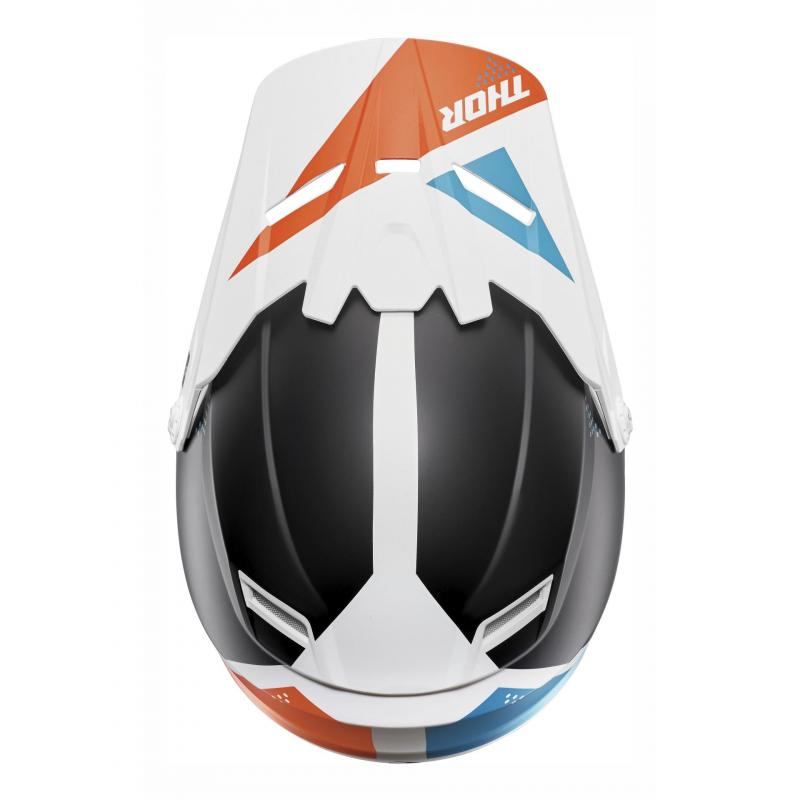 Kit visière Thor pour casque enfant Sector Blade blanc/navy
