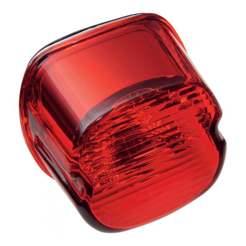 Lentille feu arrière Drag Specialties Laydown type origine Harley Davidson 99-03 rouge