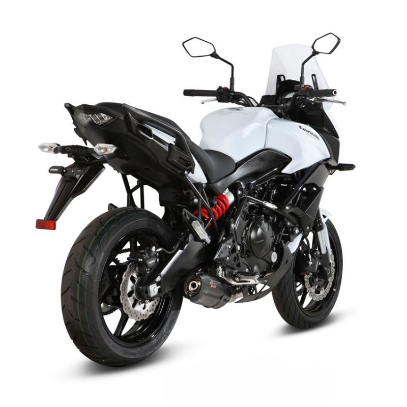 Ligne complète inox homologuée MIVV Suono acier noir Kawasaki Versys 650 15-