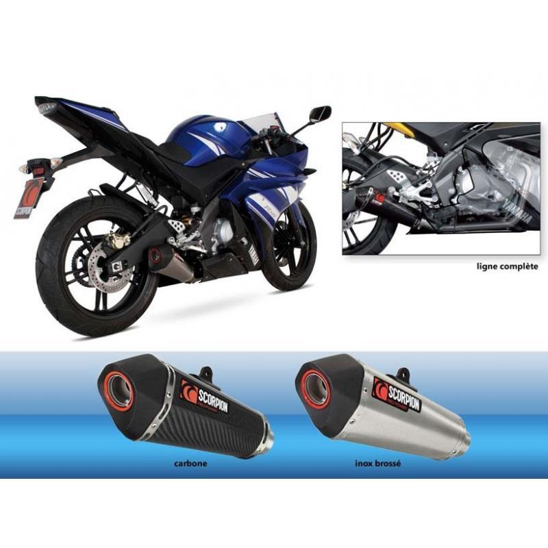 Ligne complète Scorpion Serket Silencieux Carbone Yamaha Yzf R 125 08-12