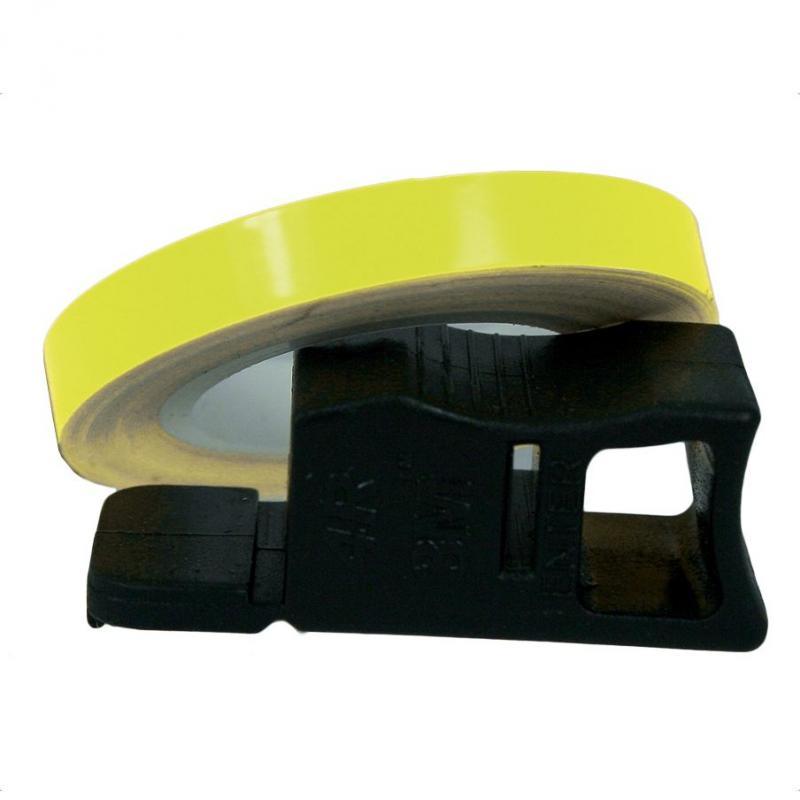 Liseret de Jante Chaft jaune fluo 7mm x 1,5m avec applicateur