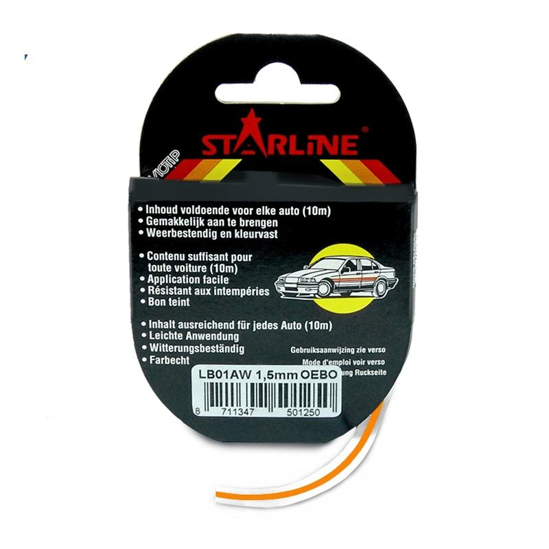 Liseret Tuning Starline 10m x 1.5mm, rouge