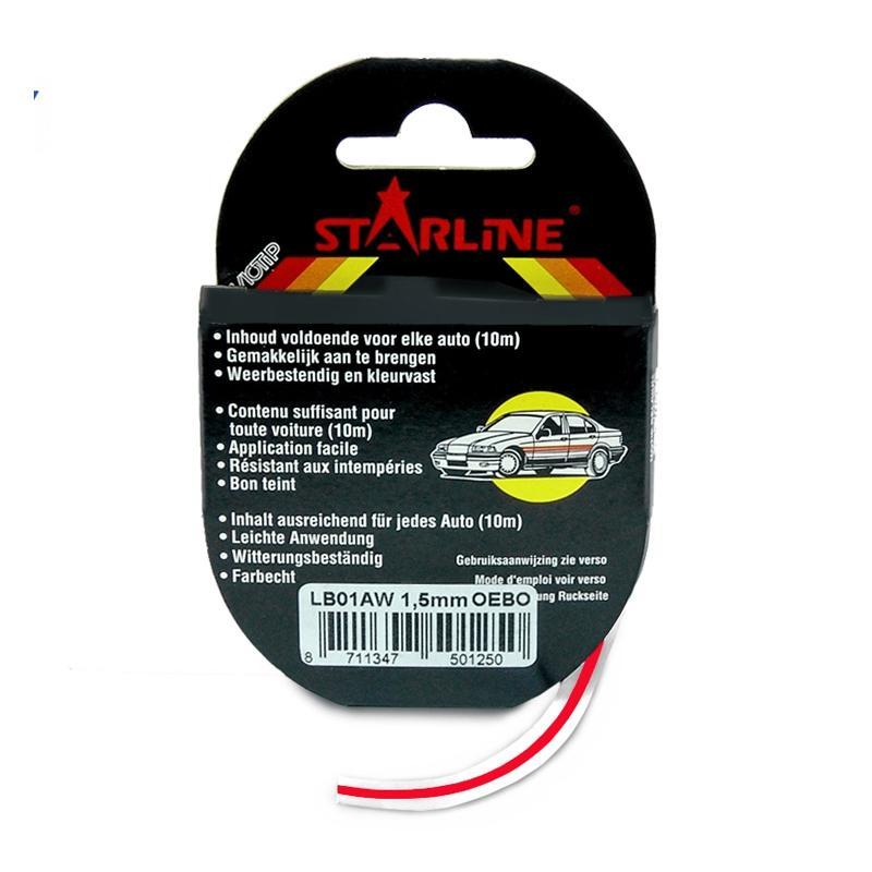 Liseret Tuning Starline 10m x 6mm, lie-de-vin