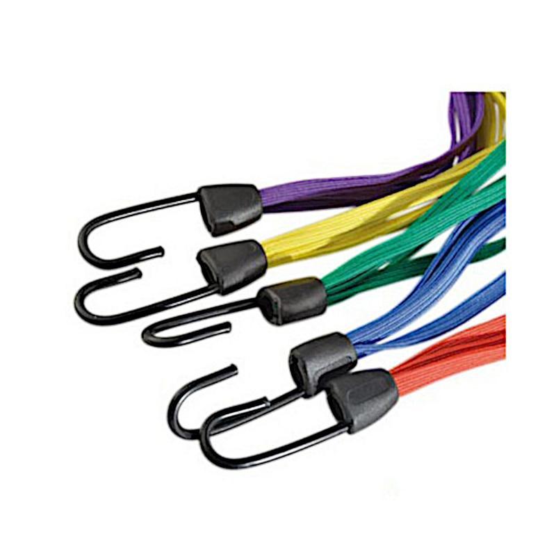 Lot de 5 sangles plates à crochets Joubert Sandow 5 cordes differentes couleurs
