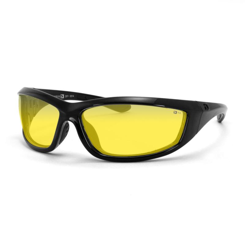Lunettes Bobster Charger noir gloss / jaune