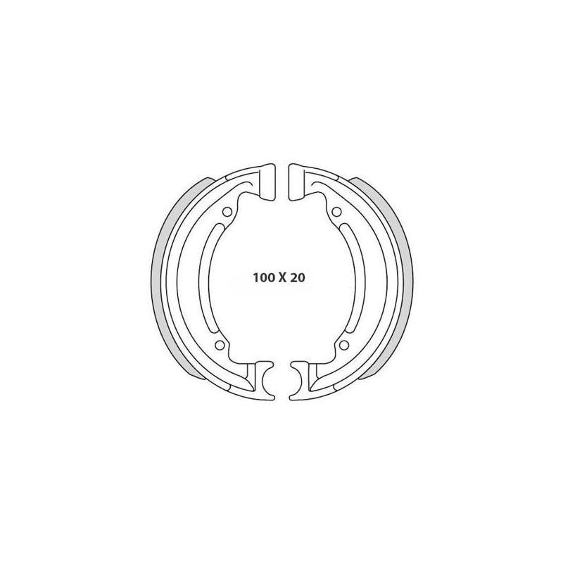 Mâchoire de frein arrière Teknix MBK 88 / 89 Ø100