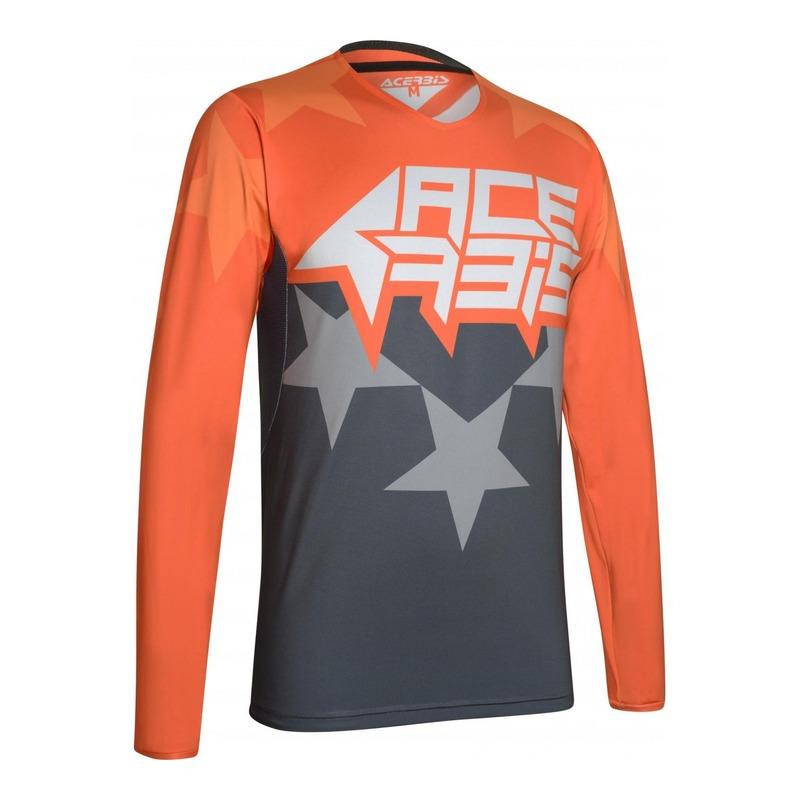 Maillot cross Acerbis X-Flex Starchaser orange/gris