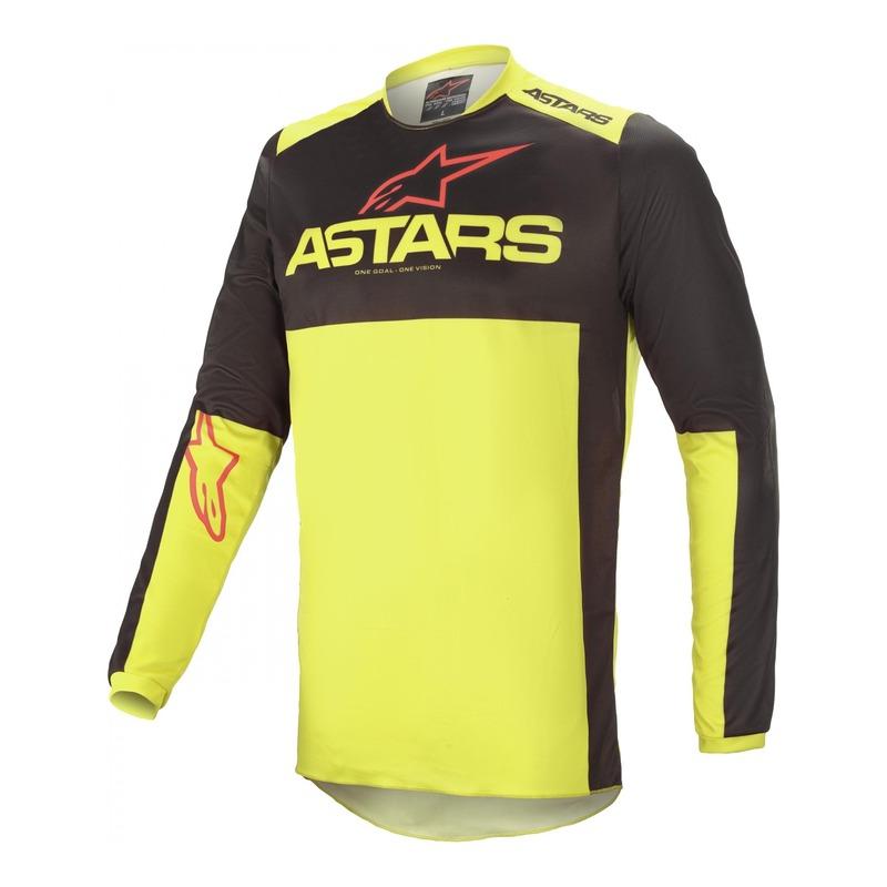 Maillot cross Alpinestars Fluid Tripple noir/jaune fluo/bright rouge