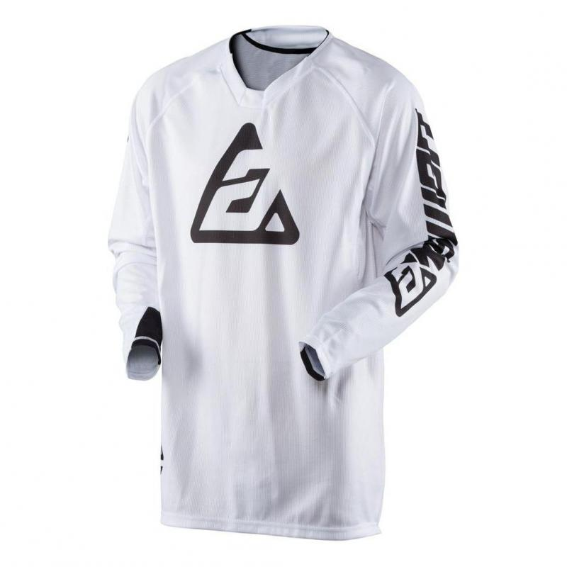 Maillot cross Answer Elite Solid blanc