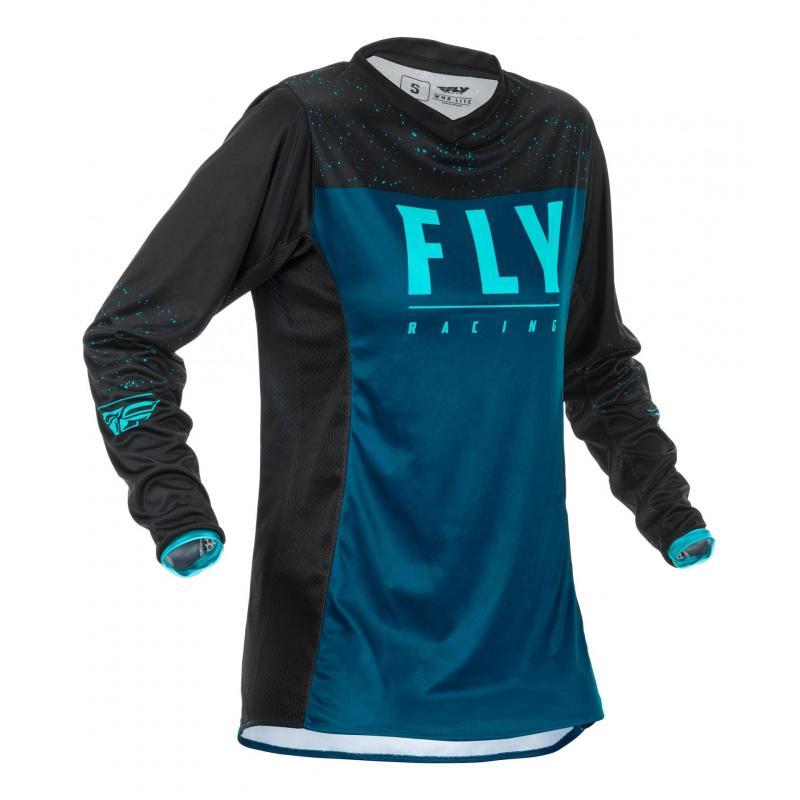 Maillot cross enfant fille Fly Racing Lite Racewear navy/bleu/noir