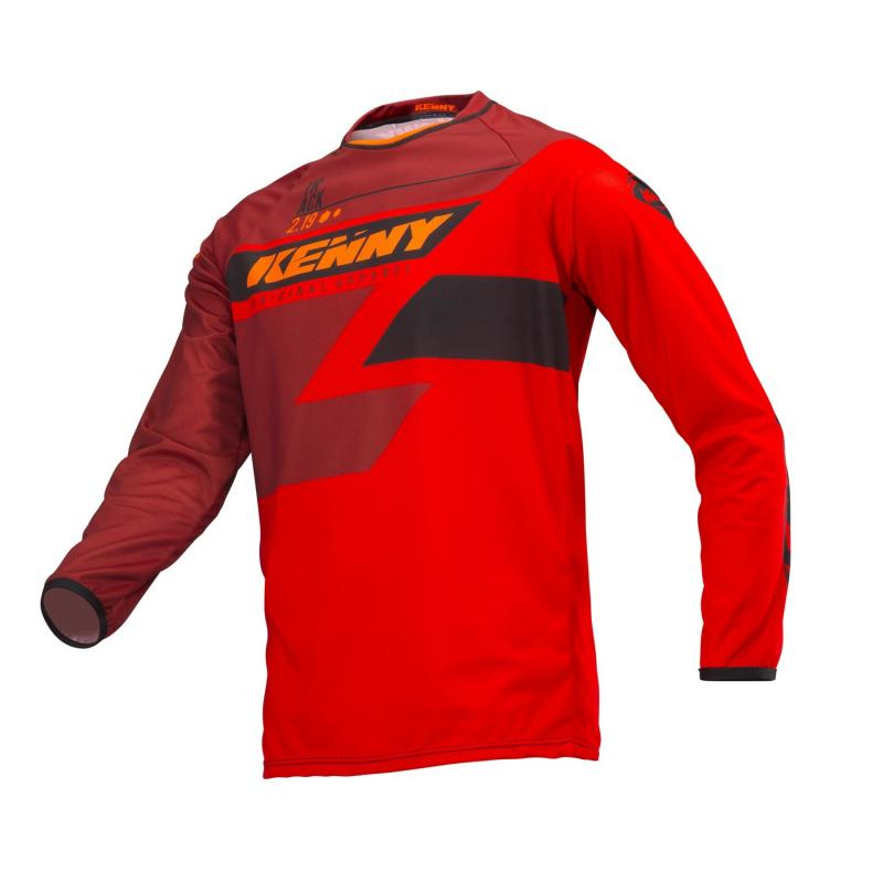 Maillot cross enfant Kenny Track Kid full red
