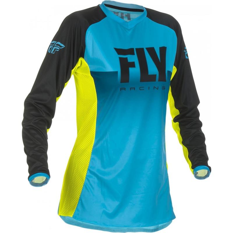 Maillot cross femme Fly Racing Lite bleu/jaune