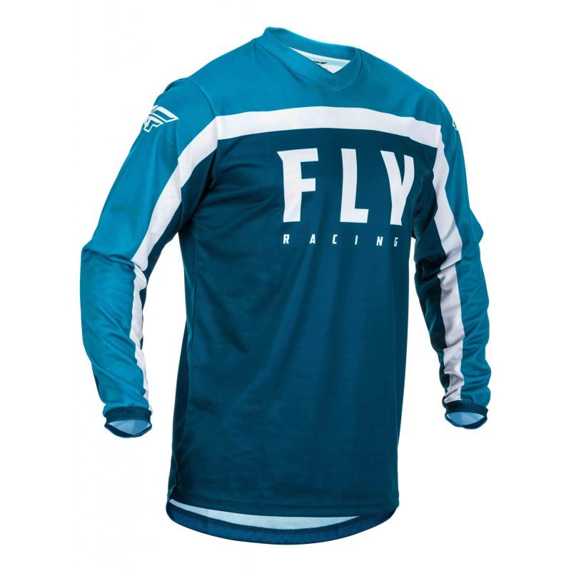Maillot cross Fly Racing F-16 navy/bleu/blanc