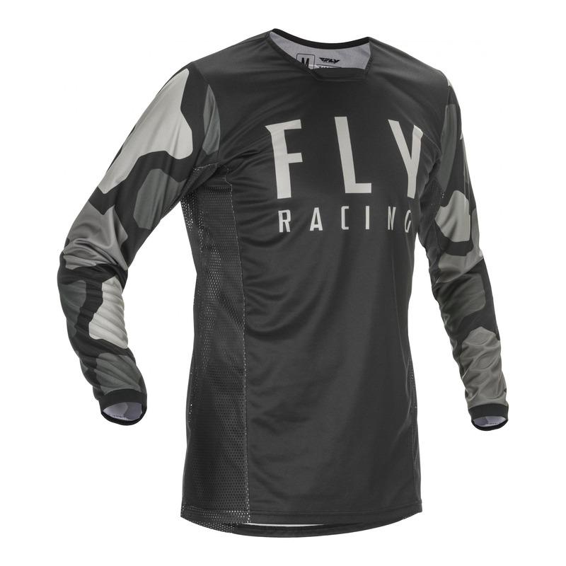 Maillot cross Fly Racing Kinetic K221 noir/gris