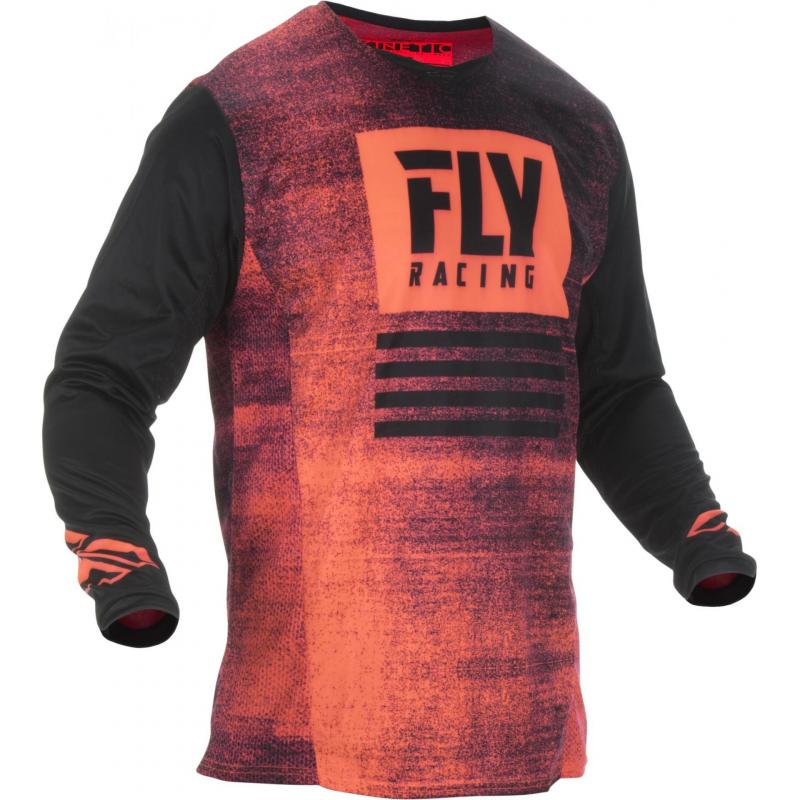 Maillot cross Fly Racing Kinetic Noiz noir/rouge